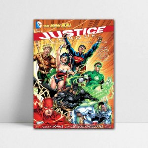 Poster A4 DC - Comics Justice League New 52