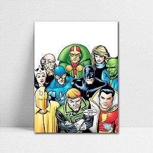 Poster A4 DC - Liga da Justiça Cômica