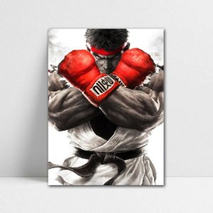 Poster A4 Street Fighter - Ryu Super Street Fighter V