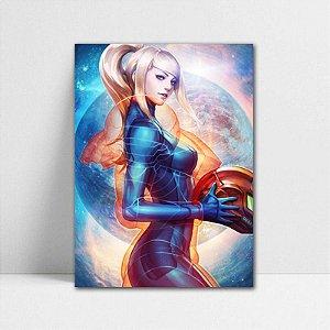Poster A4 Metroid - Samus Aran Crystal