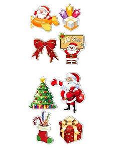 Ímãs Decorativos Natal Set B - 8 unid