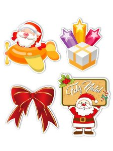 Ímãs Decorativos Natal Set B - 8 unid