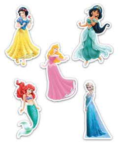Ímãs Decorativos Princesas Disney Set A - 10 unid