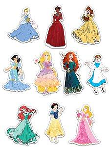 Ímãs Decorativos Princesas Disney Set D - 10 unid