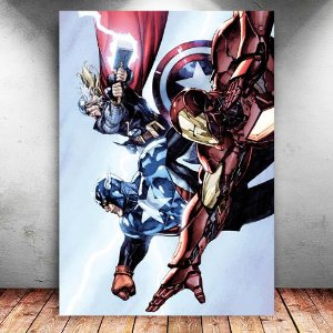 Placa Decorativa MDF Trinity Heroic Age Avengers - Marvel - PMDF03