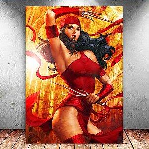 Placa Decorativa MDF Beauty Elektra - Marvel - PMDF10