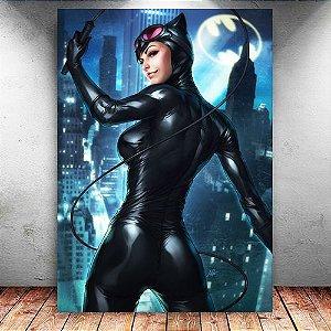 Placa Decorativa MDF Catwoman - DC - PMDF35