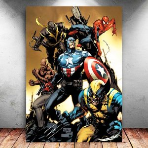 Placa Decorativa MDF The New Avengers - Marvel - PMDF37