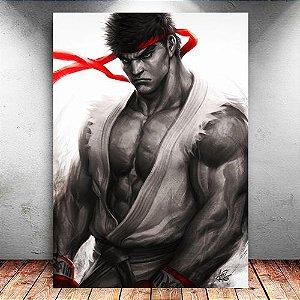 Placa Decorativa MDF Ryu Keikogi - Street Fighter - PMDF41
