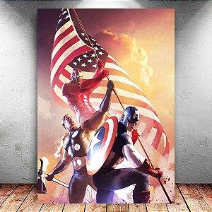 Placa Decorativa MDF Trinity The Ultimate - Marvel - PMDF52