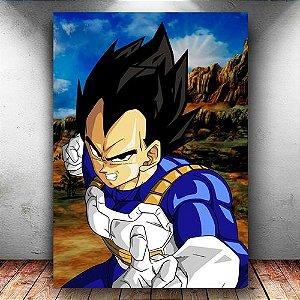 Placa Decorativa MDF Prince Vegeta - Dragon Ball Z - PMDF54