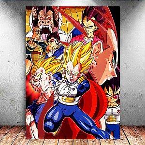 Placa Decorativa MDF Vegeta Super Saiyan - Dragon Ball Z - PMDF55