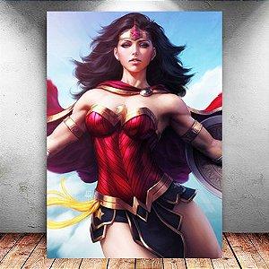 Placa Decorativa MDF Warrior Wonder Woman - DC - PMDF58