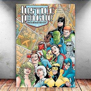 Placa Decorativa MDF Justice League International - DC - PMDF64