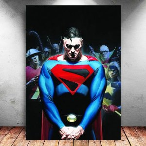 Placa Decorativa MDF Tomorrow Superman - DC - PMDF65