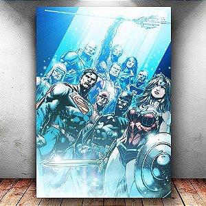 Placa Decorativa MDF Justice League Team New 52 - DC - PMDF69
