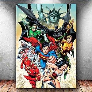Placa Decorativa MDF Justice League - DC - PMDF70