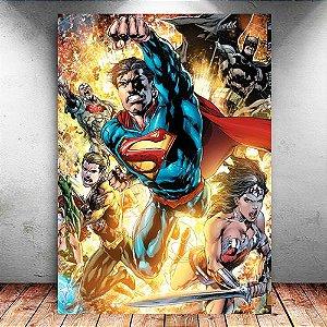 Placa Decorativa MDF Justice League New 52 - DC - PMDF72