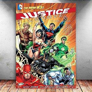 Placa Decorativa MDF Comics Justice League New 52 - DC - PMDF73