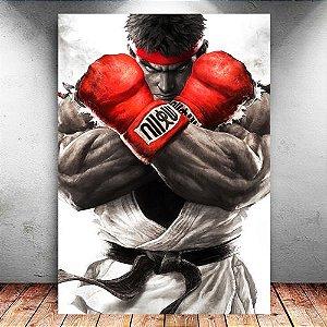 Placa Decorativa MDF Ryu Super - Street Fighter - PMDF121