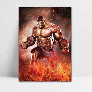 Poster A4 Marvel - Hulk Fire
