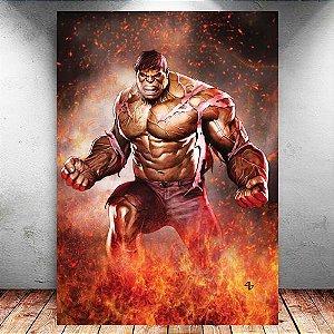 Placa Decorativa MDF Hulk - Marvel - PMDF122