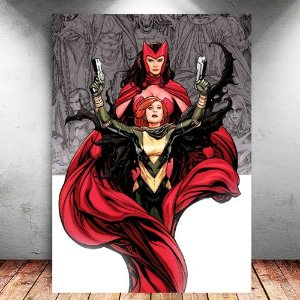 Placa Decorativa MDF Scarlet Witch and Hope - Marvel - PMDF123