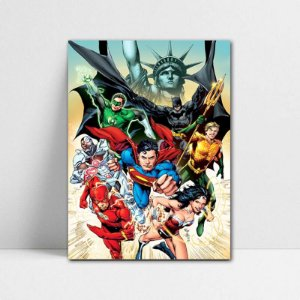 Poster A4 DC - Justice League - PDC24