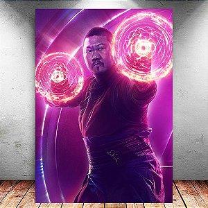 Placa Decorativa MDF Wong Avengers Infinity War - Marvel