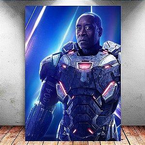 Placa Decorativa MDF War Machine Avengers Infinity War - Marvel
