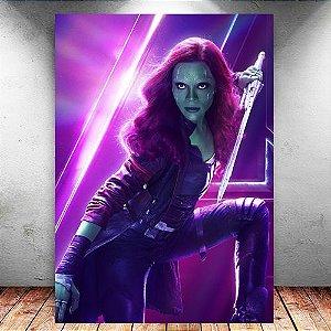 Placa Decorativa MDF Gamora Avengers Infinity War - Marvel