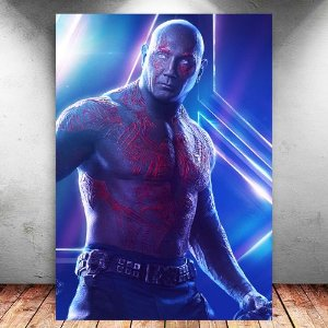 Placa Decorativa MDF Drax Avengers Infinity War - Marvel