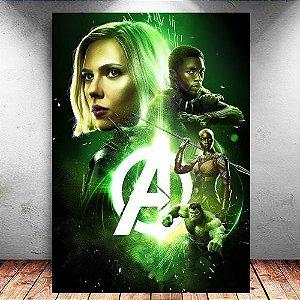 Placa Decorativa MDF Avengers Infinity War - Marvel - PMDF138