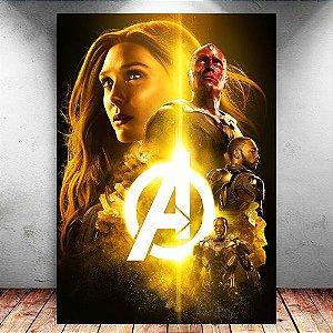 Placa Decorativa MDF Avengers Infinity War - Marvel - PMDF140