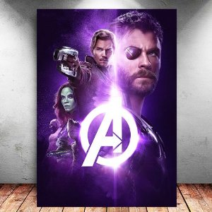 Placa Decorativa MDF Avengers Infinity War - Marvel - PMDF141
