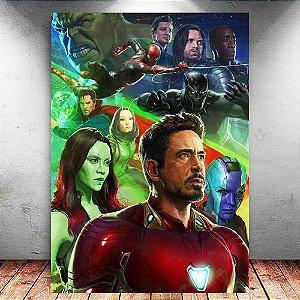 Placa Decorativa MDF Avengers Infinity War - Marvel - PMDF142