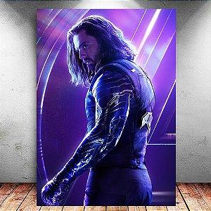 Placa Decorativa MDF Winter Soldier Avengers Infinity War - Marvel