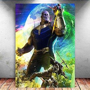 Placa Decorativa MDF Thanos Avengers Infinity War - Marvel
