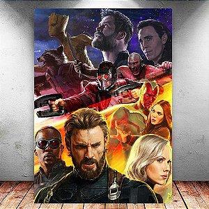 Placa Decorativa MDF Avengers Infinity War - Marvel - PMDF146