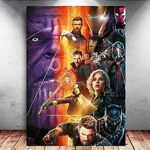 Placa Decorativa MDF Avengers Infinity War - Marvel - PMDF147