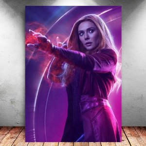 Placa Decorativa MDF Scarlet Witch Avengers Infinity War - Marvel