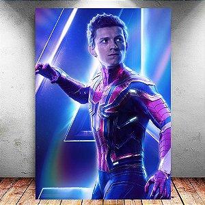 Placa Decorativa MDF Spider-Man Avengers Infinity War - Marvel