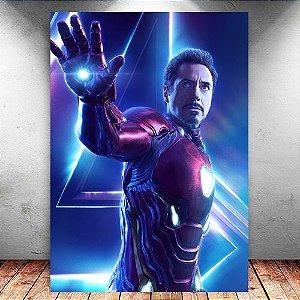 Placa Decorativa MDF Iron Man Avengers Infinity War - Marvel