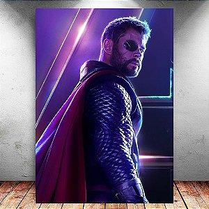Placa Decorativa MDF Thor Avengers Infinity War - Marvel