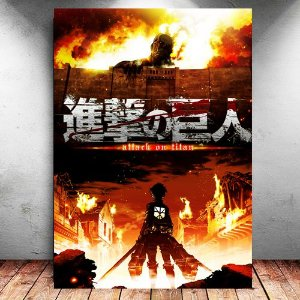 Placa Decorativa MDF Shingeki no Kyojin - Attack on Titan - PMDF75