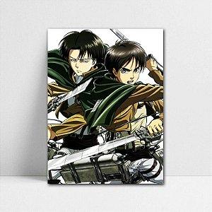 Poster A4 Eren e Levi - Attack on Titan - PT78