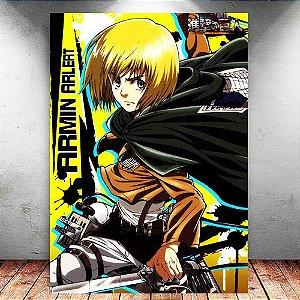 Placa Decorativa MDF Armin - Attack on Titan - PMDF80