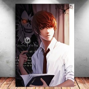 Placa Decorativa MDF Light Yagami - Death Note - PMDF90