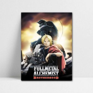 Poster A4 Edward e Alphonse - Fullmetal Alchemist - PT94