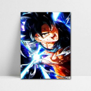 Poster A4 Goku Ultra Instinct - Dragon Ball - PT100